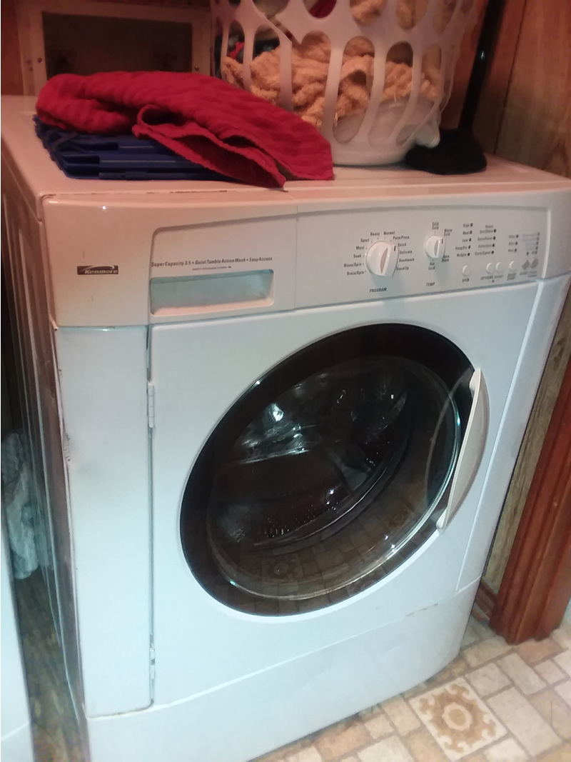 Kenmore high efficiency washer and dryer.